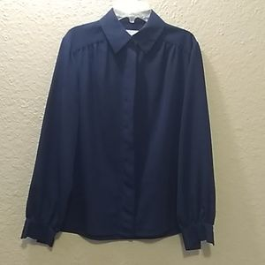 Pendleton Royal Blue Blouse Size 8